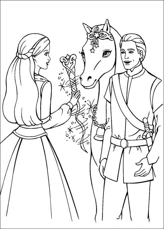 Barbie and The Magic Pegasus Colouring Pictures 1
