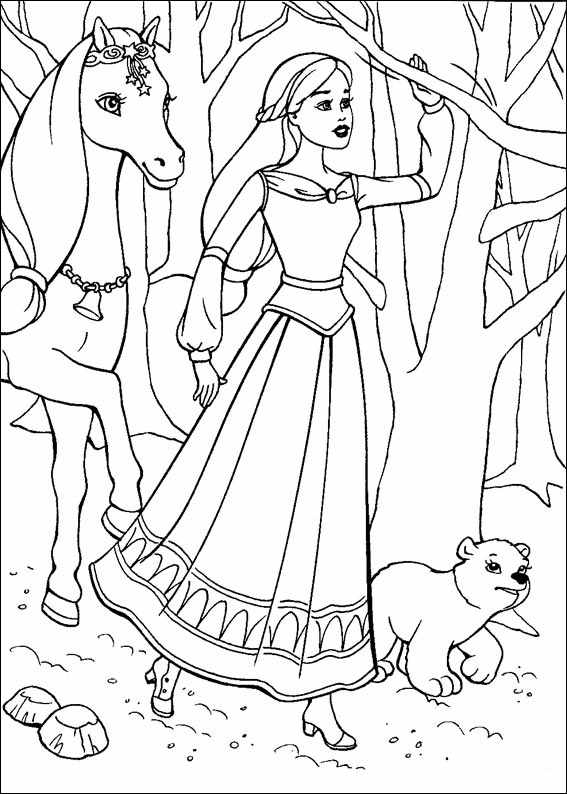 Barbie and The Magic Pegasus Colouring Pictures 11
