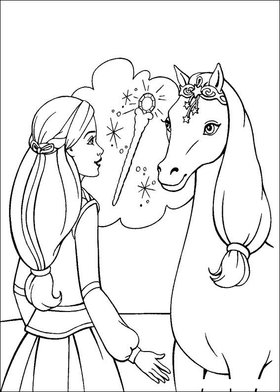 Barbie and The Magic Pegasus Colouring Pictures 12