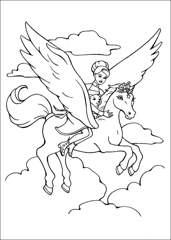 Barbie and The Magic Pegasus Colouring Pictures 14