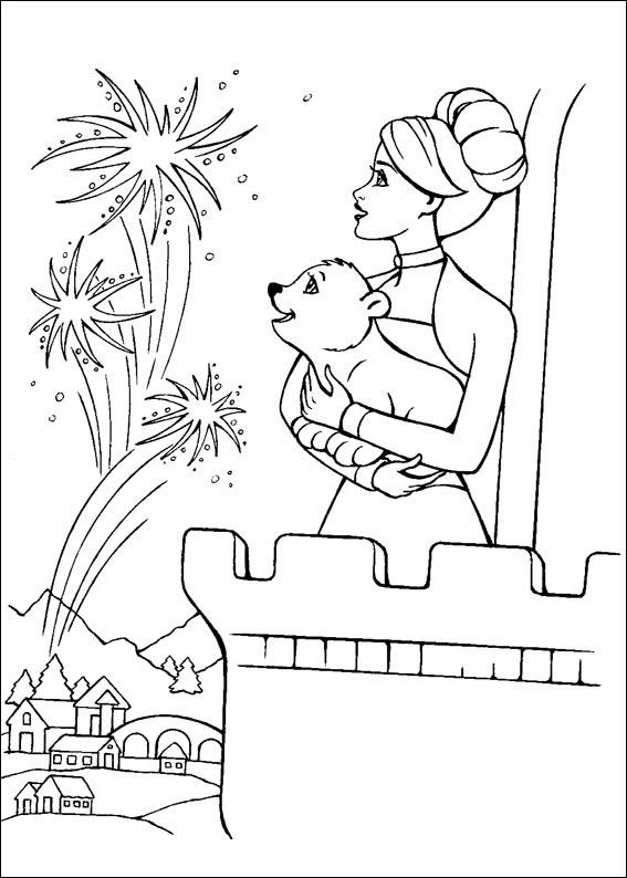 Barbie and The Magic Pegasus Colouring Pictures 3