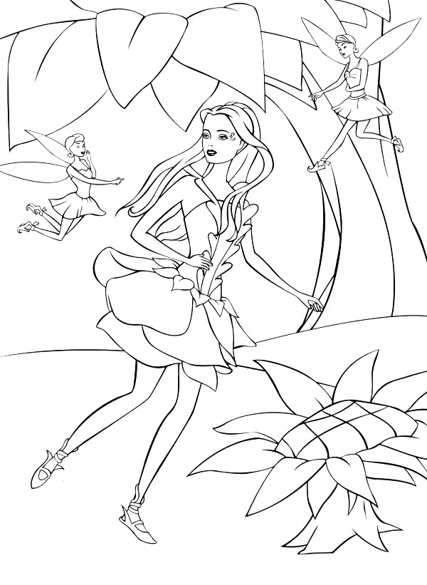 Barbie Fairytopia Colouring Pictures 1