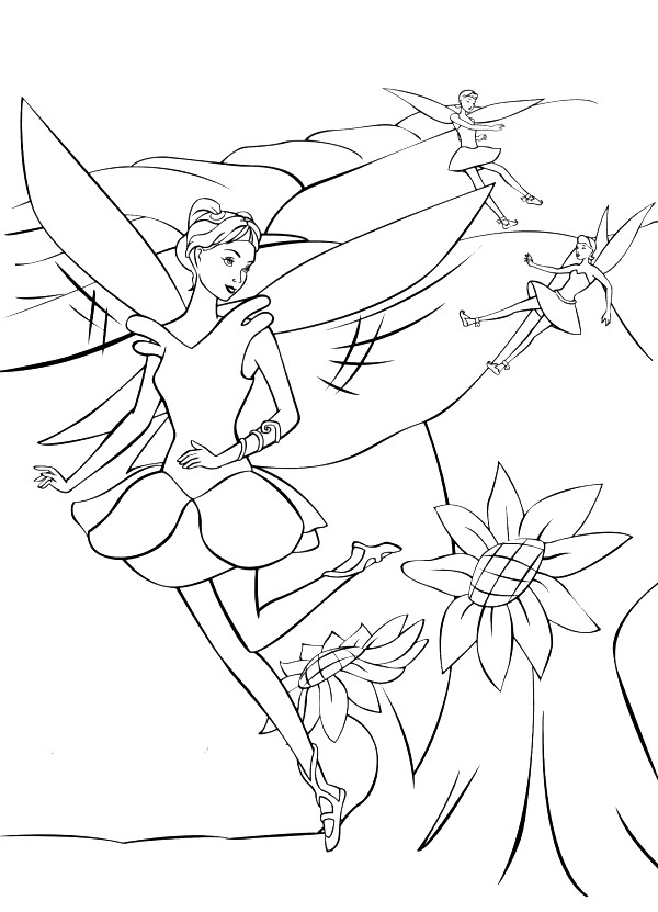 Barbie Fairytopia Colouring Pictures 3