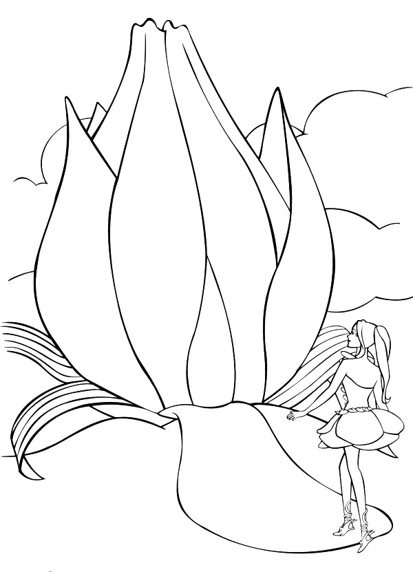 Barbie Fairytopia Colouring Pictures 4