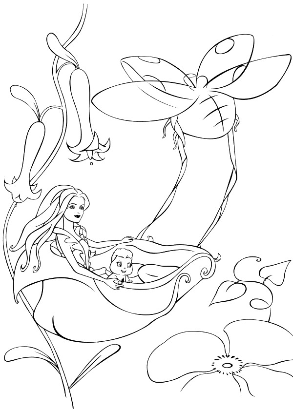 Barbie Fairytopia Colouring Pictures 6
