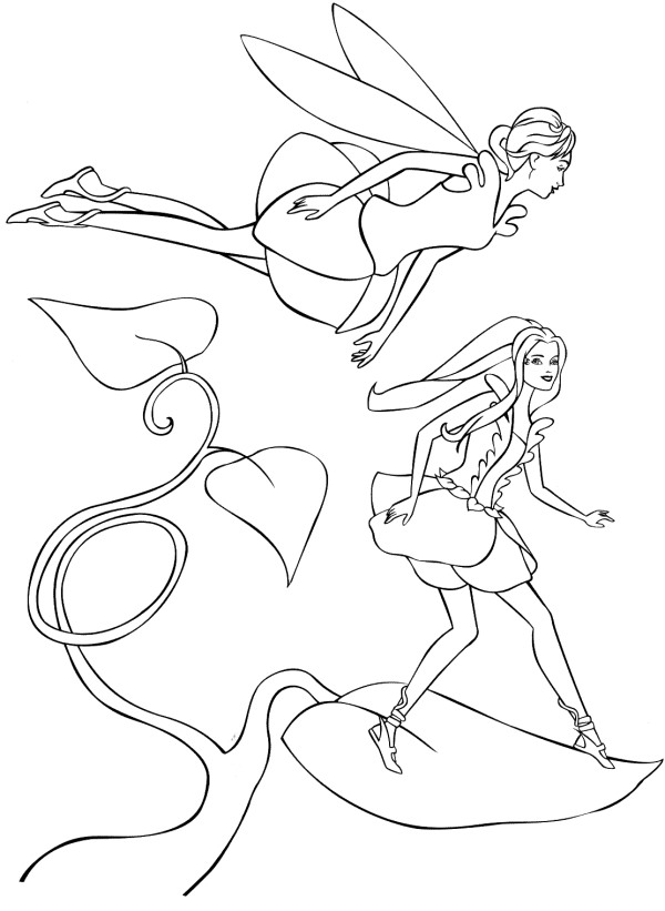 Barbie Fairytopia Colouring Pictures 7