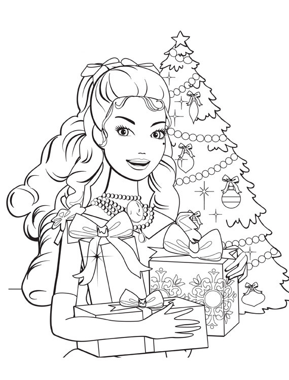 Barbie in a Christmas Carol Colouring Pictures 1