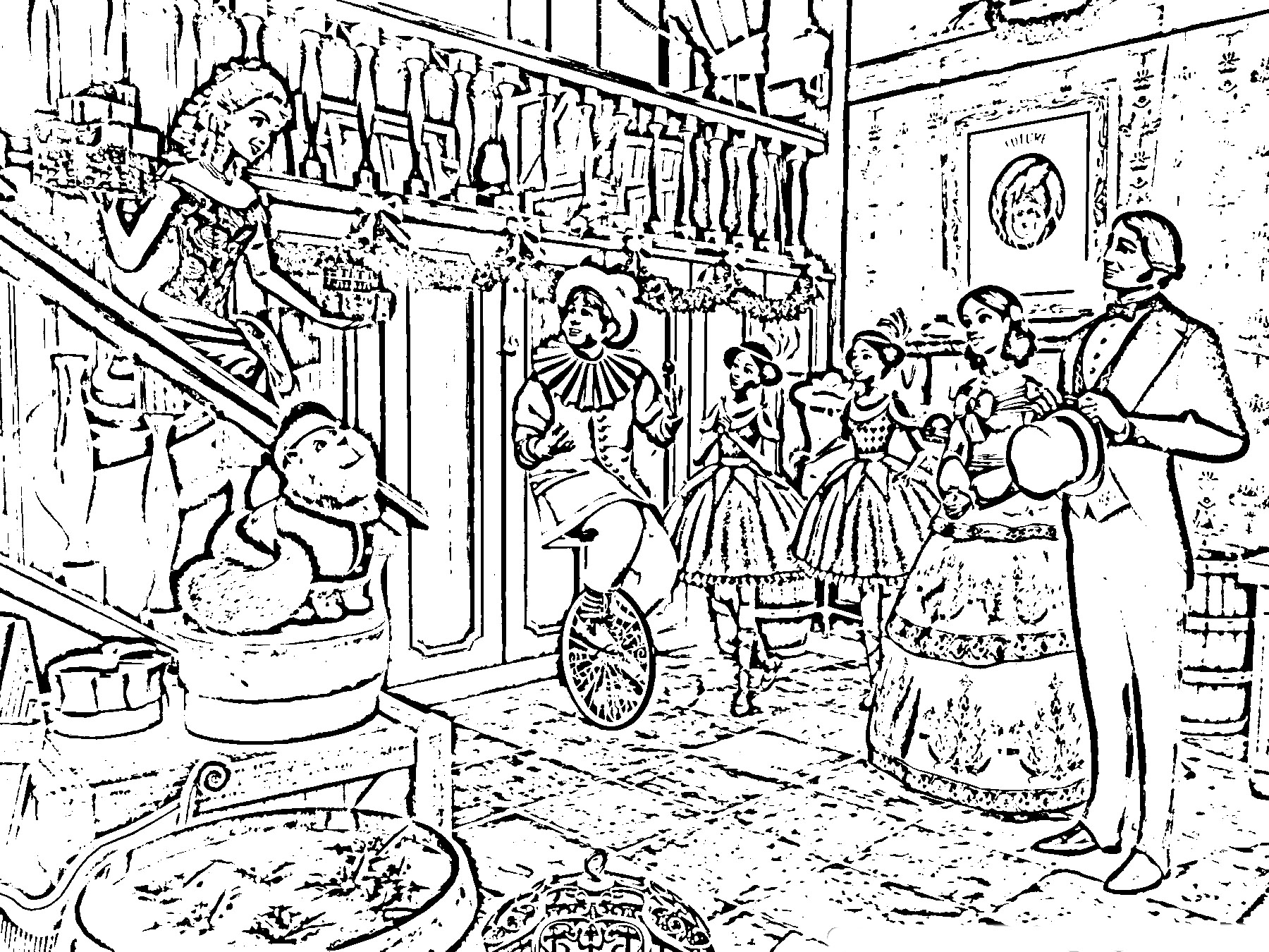 Barbie in a Christmas Carol Colouring Pictures 3