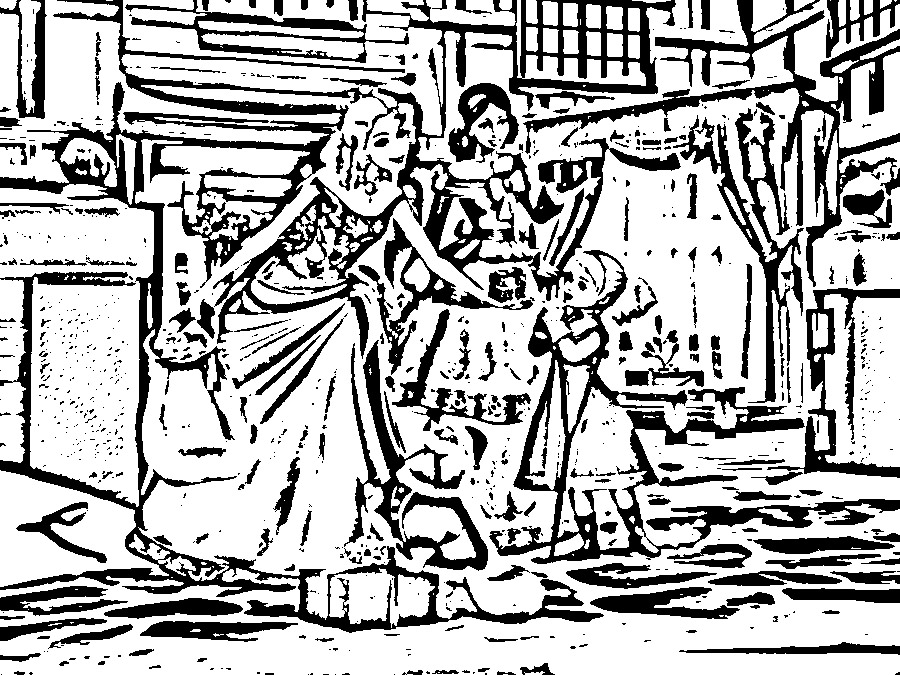 Barbie in a Christmas Carol Colouring Pictures 4