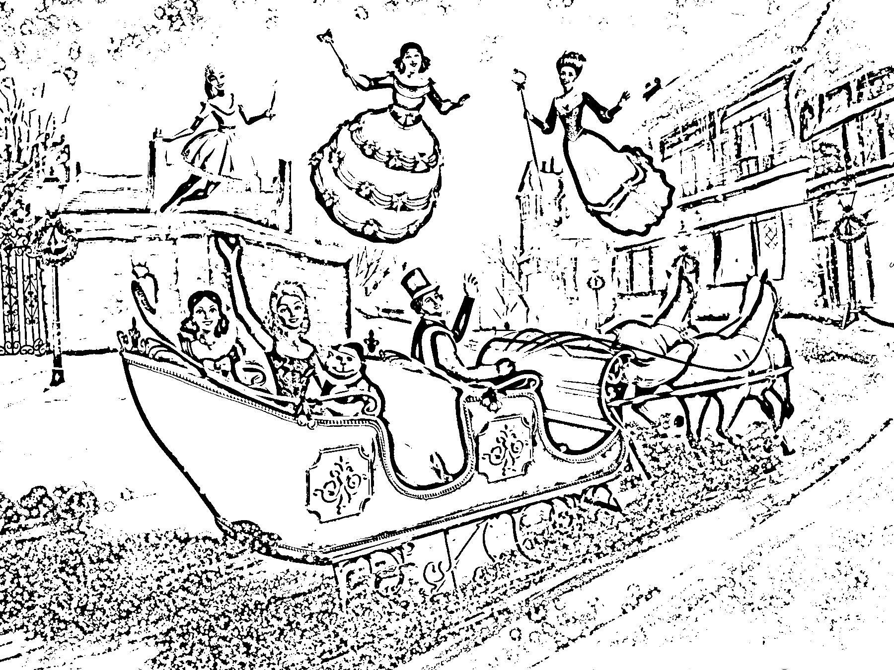 barbie in a christmas carol colouring pictures
