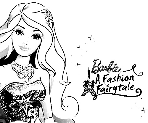 Barbie in a Fashion Fairytale Colouring Pictures 1