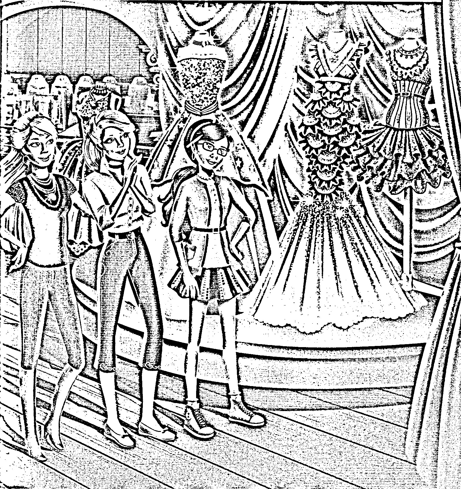 barbie in a fashion fairytale colouring pictures