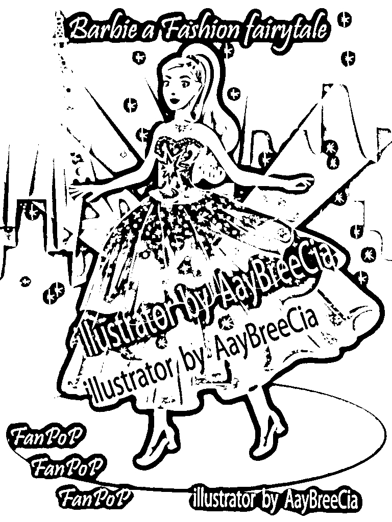 Barbie in a Fashion Fairytale Colouring Pictures 4
