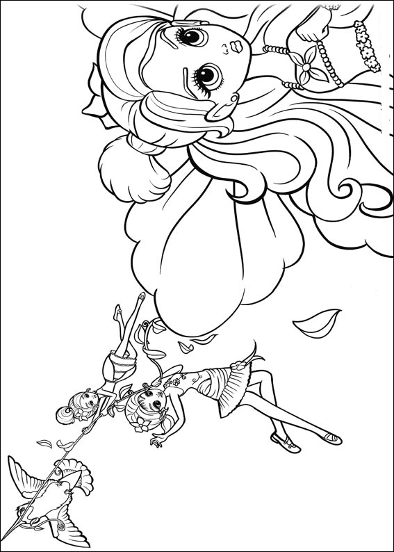 Barbie Thumbelina Colouring Pictures 1
