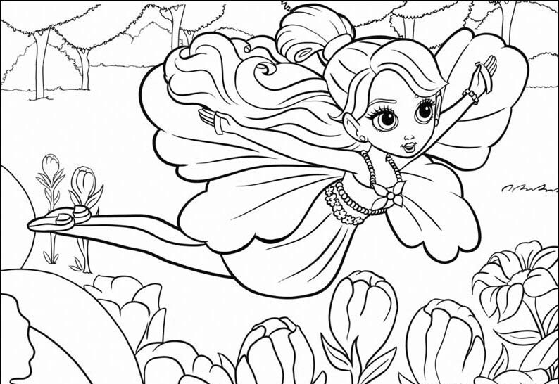 Barbie Thumbelina Colouring Pictures 12