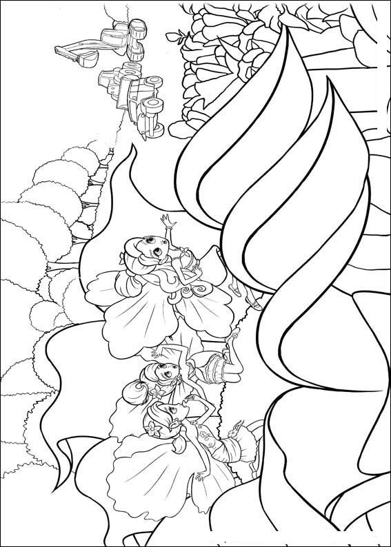 Barbie Thumbelina Colouring Pictures 6