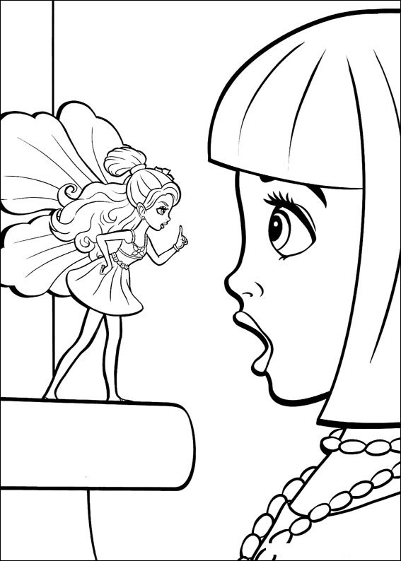 Barbie Thumbelina Colouring Pictures 7