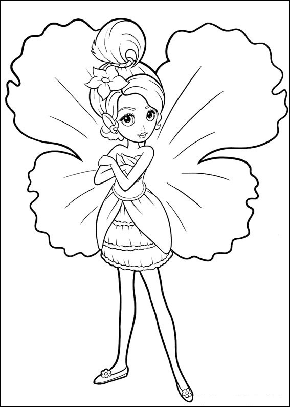 Barbie Thumbelina Colouring Pictures 9