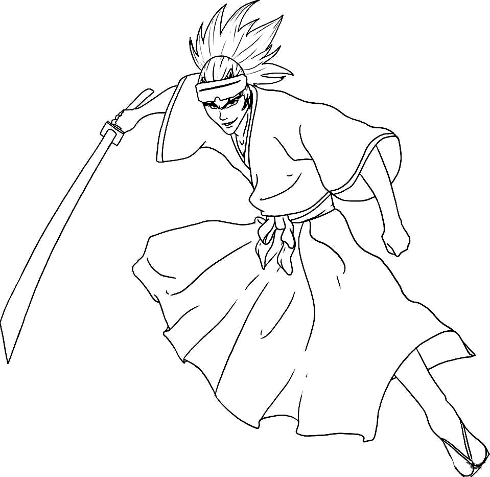 Bleach Colouring Pictures 7