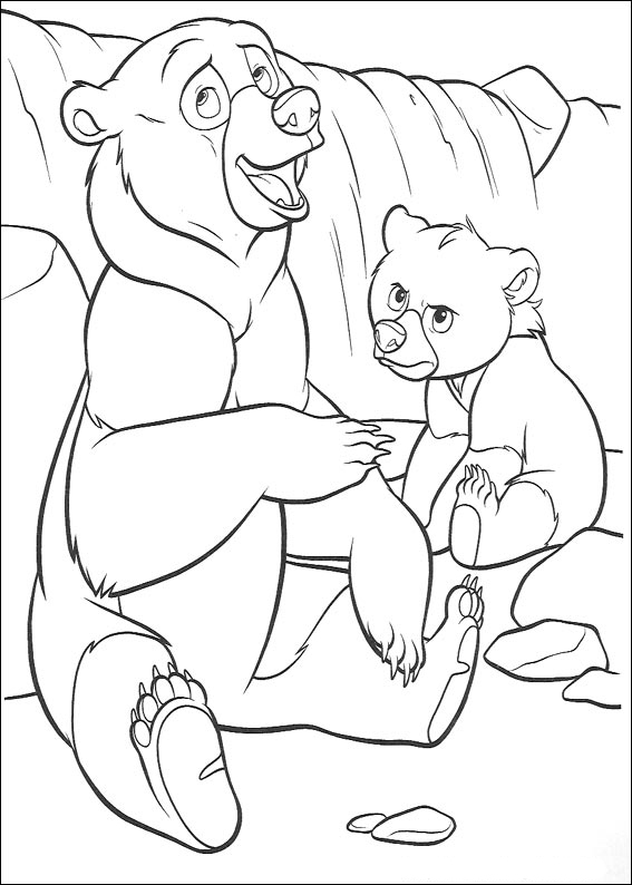 Brother Bear Colouring Pictures 12