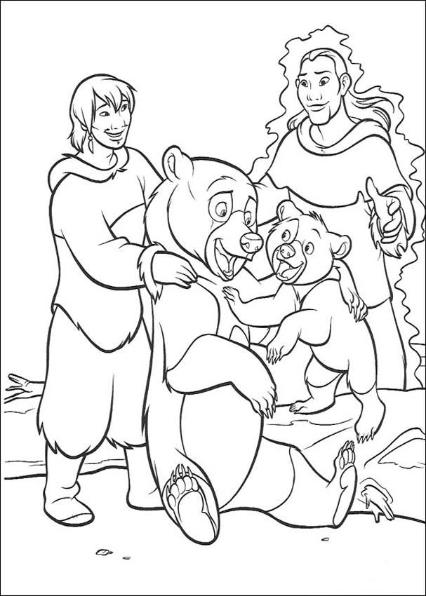Brother Bear Colouring Pictures 5