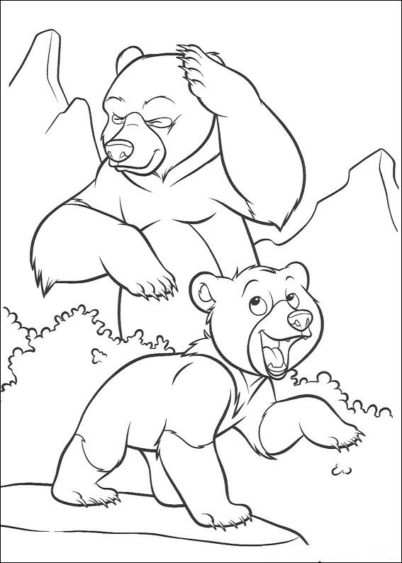 Brother Bear Colouring Pictures 8