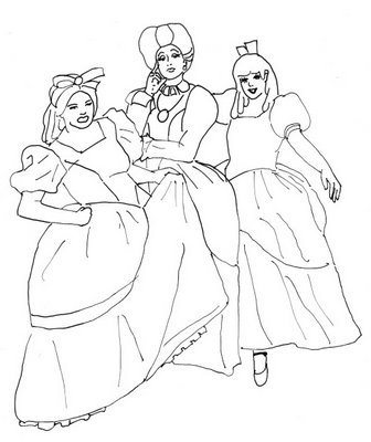 Cinderella 2 Colouring Pictures 5