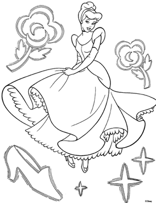 Cinderella 2 Colouring Pictures 8