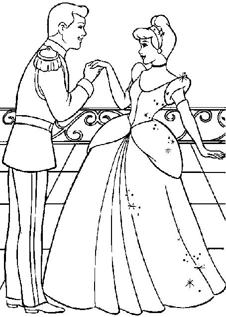 Cinderella 2 Colouring Pictures 9