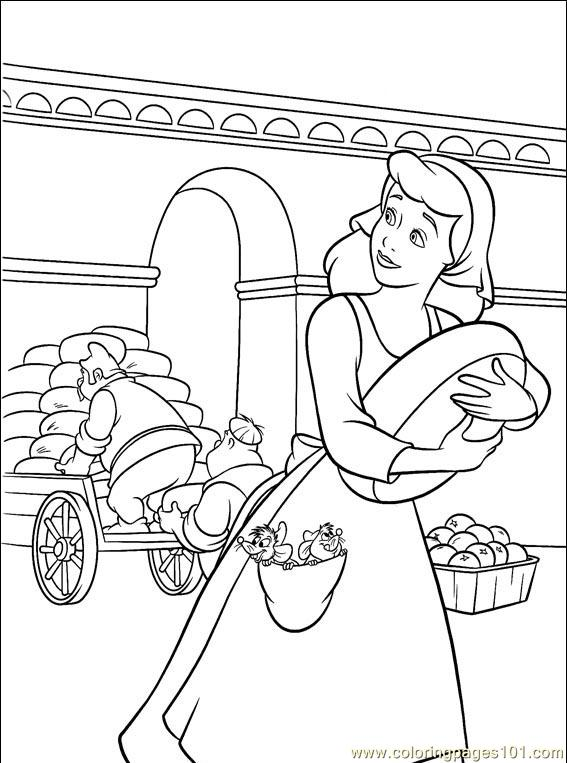Cinderella 3 Colouring Pictures 1