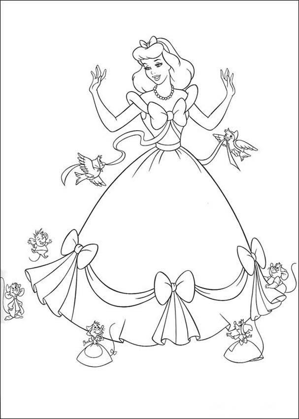 Cinderella 3 Colouring Pictures 3