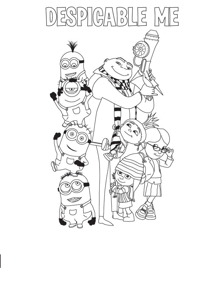 Despicable Me Colouring Pictures 6
