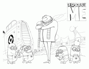 Despicable Me Colouring Pictures 7