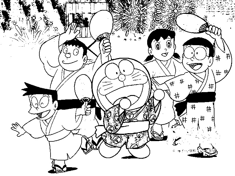Doraemon Colouring Pictures 8