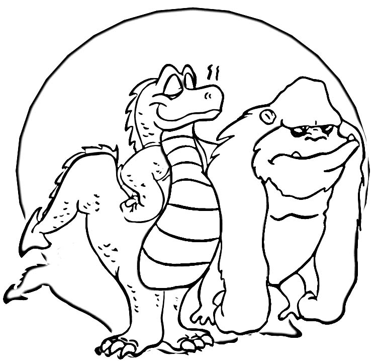 Godzilla Colouring Pictures 11