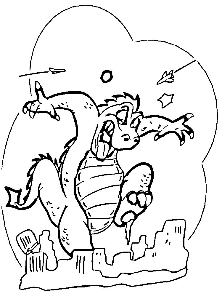 Godzilla Colouring Pictures 4