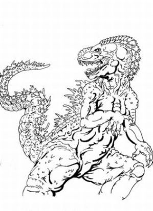 Godzilla Colouring Pictures 9