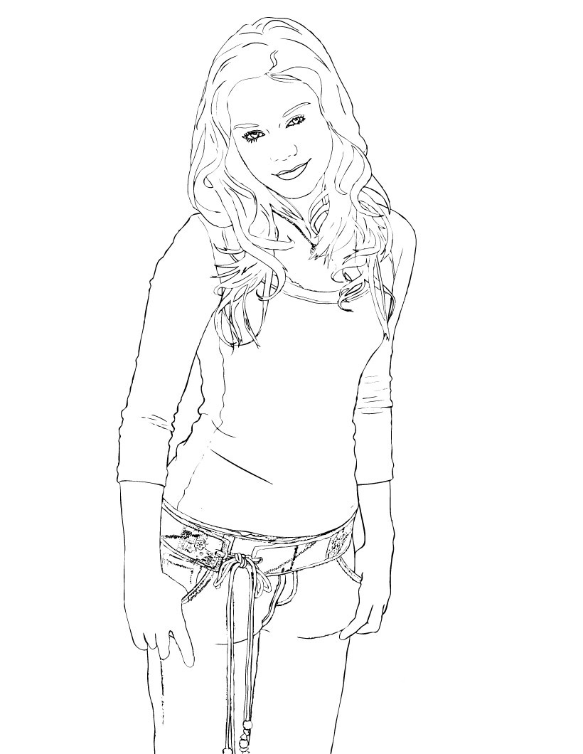 Hannah Montana Colouring Pictures 12