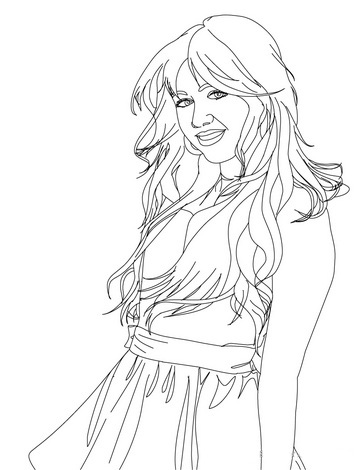 Hannah Montana Colouring Pictures 3