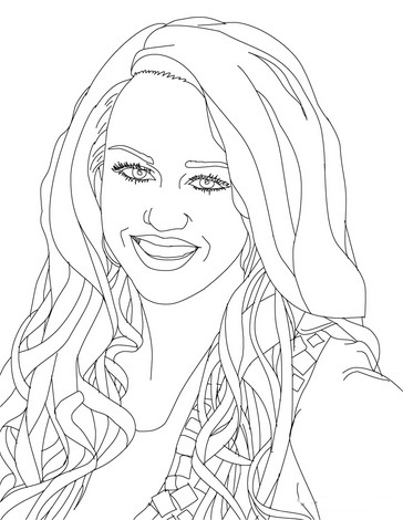Hannah Montana Colouring Pictures 4