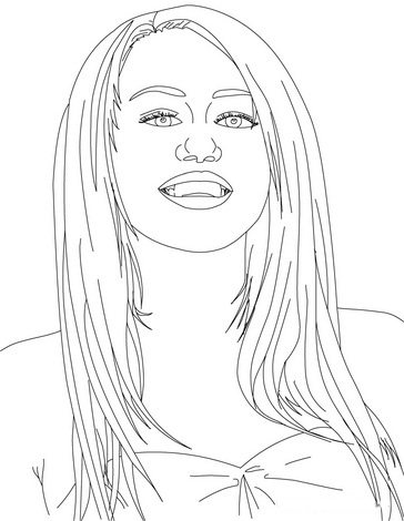Hannah Montana Colouring Pictures 7
