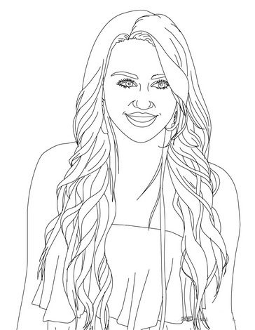 Hannah Montana Colouring Pictures 8