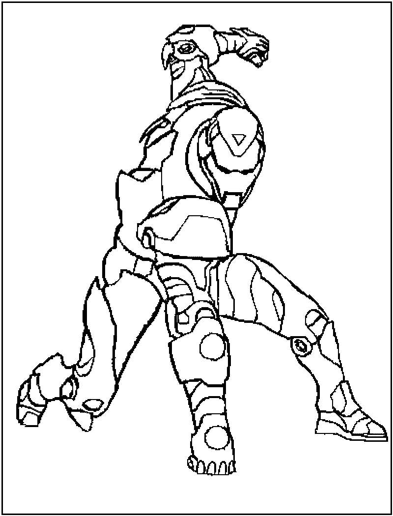 Iron Man Colouring Pictures 10