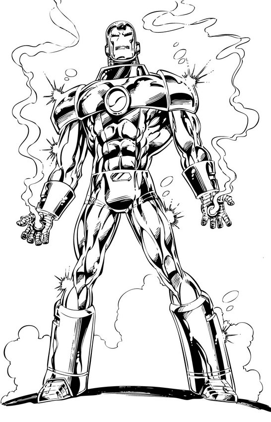 Iron Man Colouring Pictures 2