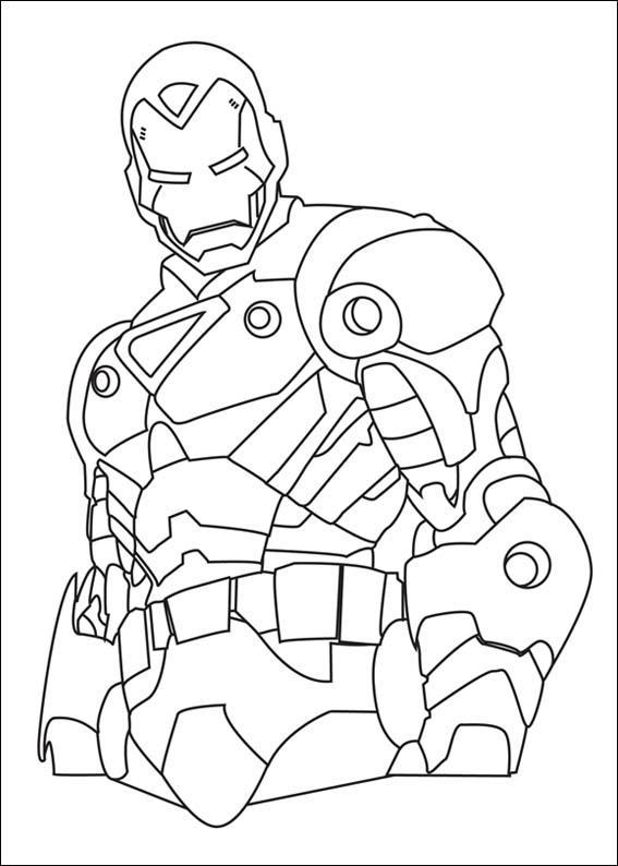 Iron Man Colouring Pictures 4