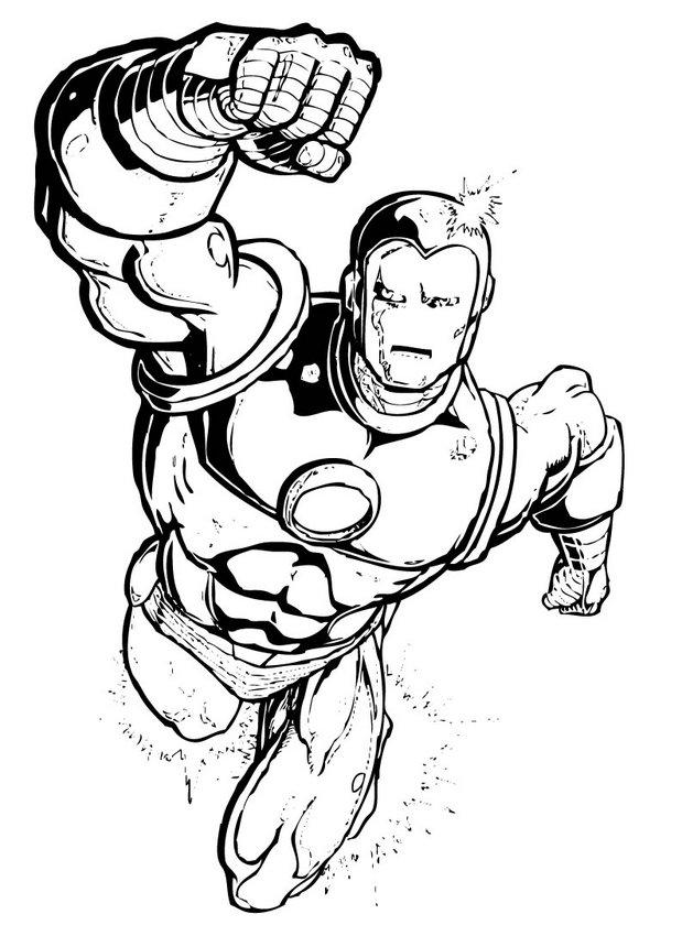 Iron Man Colouring Pictures 5
