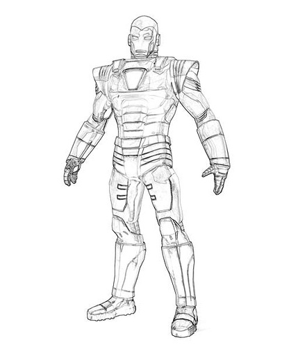 Iron Man Colouring Pictures 7