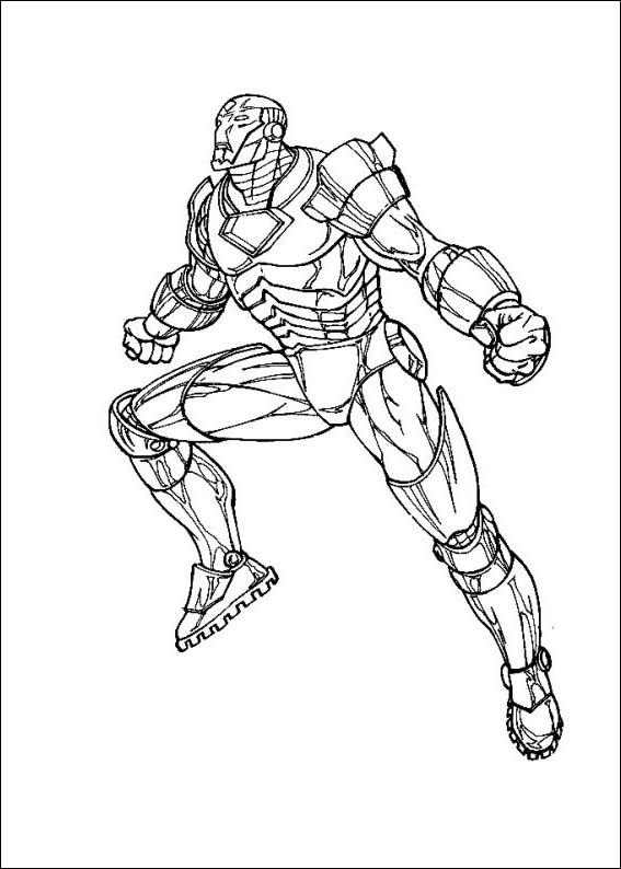 Iron Man Colouring Pictures 8