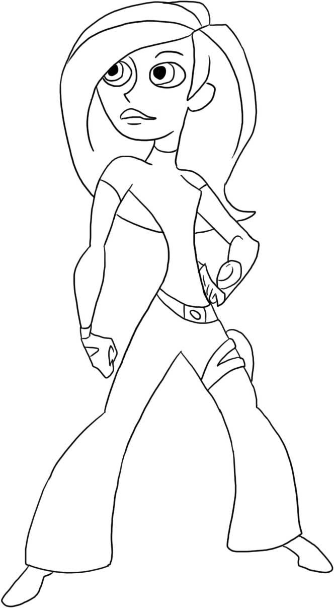 Kim Possible Colouring Pictures 1