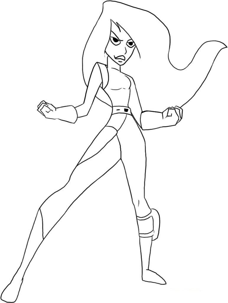 Kim Possible Colouring Pictures 6